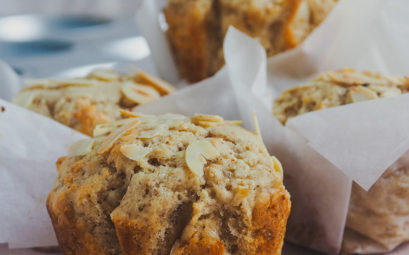 Almond and orange blossom muffins