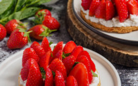 Vegan strawberry tart
